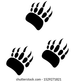 Traces of badger vector image