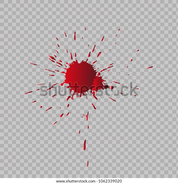 Traces of blood. Vector illustration.