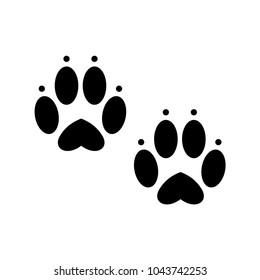 Bunny Paw Prints Images Stock Photos Vectors Shutterstock Free for commercial use no attribution required high quality images. https www shutterstock com image vector traces rabbit black track icon 1043742253