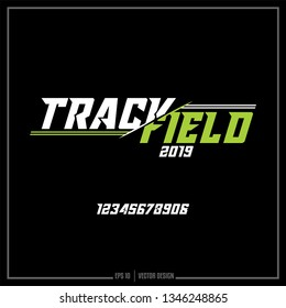 Track and Field, American Track Field, 2019, Sports logo, Team design, Numbers