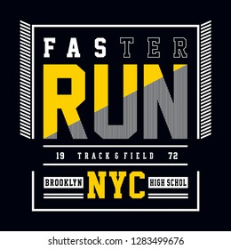 track & field new york cit... - Vector illustration