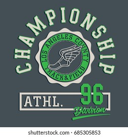 Track and field tee design