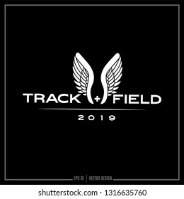 Track and Field, Wing logo, Track, Sports logo