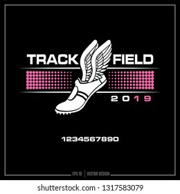 Track and Field, Track, Winged shoe, Sports logo