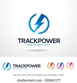 Track Power Logo Template Design Vector