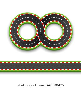 Track road infinity, Road vector highway, Vector illustration, speedway background.