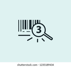 Tracking number icon line isolated on clean background. Tracking number icon concept drawing icon line in modern style. Vector illustration for your web mobile logo app UI design.