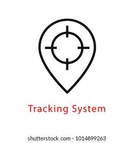 Tracking System target aim vector icon