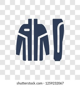 tracksuit icon. Trendy tracksuit logo concept on transparent background from Clothes collection