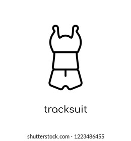 tracksuit icon. Trendy modern flat linear vector tracksuit icon on white background from thin line Tracksuit collection, outline vector illustration