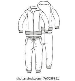 tracksuit sport boy man garment vector