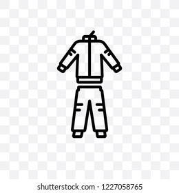 tracksuit vector linear icon isolated on transparent background, tracksuit transparency concept can be used for web and mobile