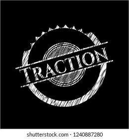 Traction chalkboard emblem