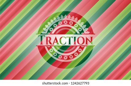 Traction christmas style badge..