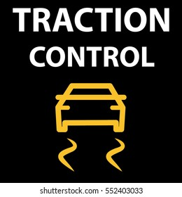 Traction Control System button. Automobile DTC code tester error. Icon vector illustration EPS 10.