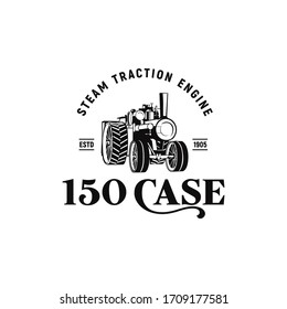 traction engine 150 case vintage logo