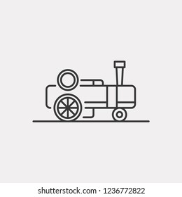 Traction Engine Modern Simple UI Vector Icon