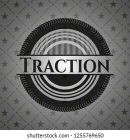 Traction realistic black emblem