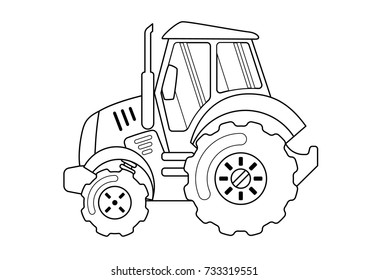 Tractor Coloring Book Images, Stock Photos & Vectors | Shutterstock