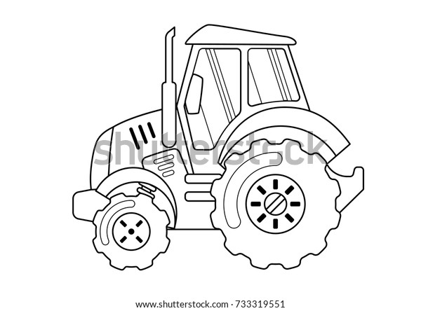 Tractor Coloring Book Stock Vector (Royalty Free) 733319551