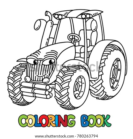 Tractor Coloring Book Kids Small Funny Stock Vector (Royalty Free ...