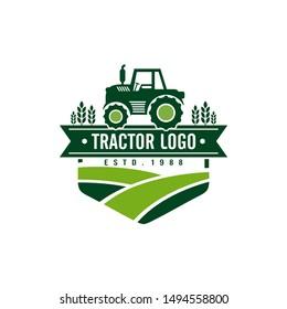 Tractor Farm Logo Template Stock Vector
