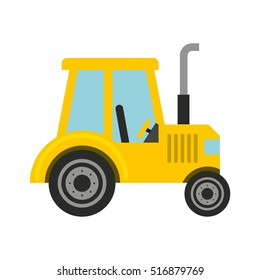 tractor farm vehicle isolated icon vector illustration design