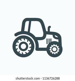 Tractor icon, agrimotor vector icon