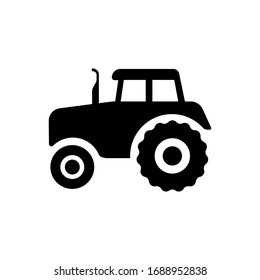 Tractor icon. Flat vector graphic in white background.