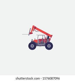 tractor icon graphic element. Illustration template design