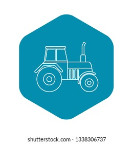 Tractor icon. Outline illustration of tractor vector icon for web design