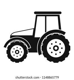 Tractor icon. Simple illustration of tractor vector icon for web design isolated on white background