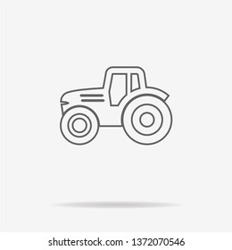 Tractor icon. Vector concept illustration for design.