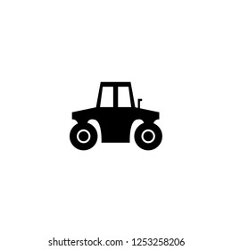 tractor icon vector. tractor vector graphic illustration