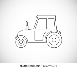 tractor outline icon