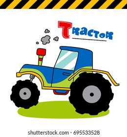 tractor - vector illustration for children.