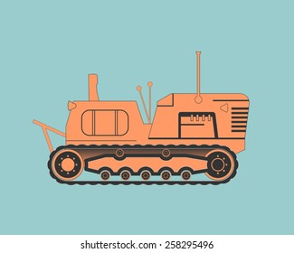 Tractor. Vector illustration. EPS 10.