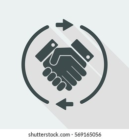 Trade agreement concept icon