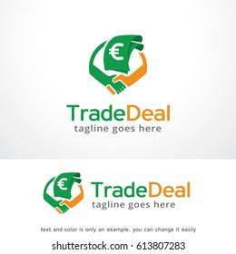 Trade Deal Logo Template Design Vector, Emblem, Design Concept, Creative Symbol, Icon