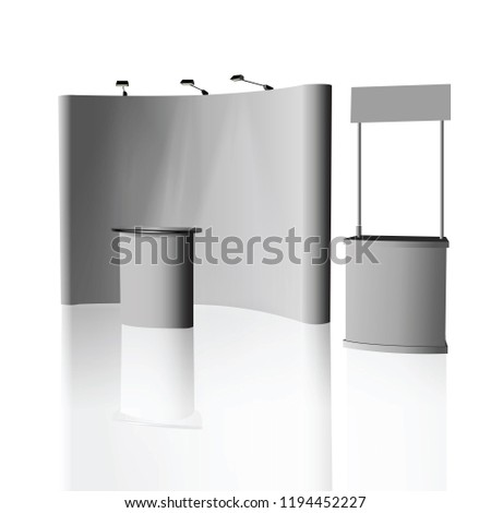 Exhibition Stand Advertising : Trade exhibition stand exhibition round d stock vector royalty