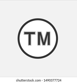 Trade Mark Icon - Abbreviation of TM : Sign & Symbol, Logo Vectors.