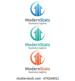 Trade Market circle Finance Report Logo Design Template