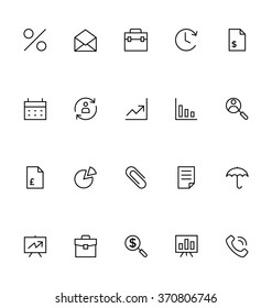 Trade Outline Vector Icons 1