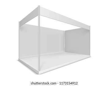 Trade show booth. Illustrations isolated on white background. Graphic concept for your design