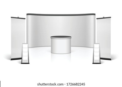Trade show booth white color template