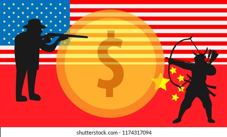 Trade war between China and the United States ,tariffs on goods traded ,steel and aluminum imports.