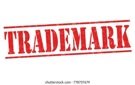 Trademark grunge rubber stamp on white background, vector illustration