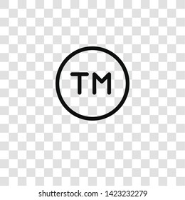 trademark icon from  collection for mobile concept and web apps icon. Transparent outline, thin line trademark icon for website design and mobile, app development