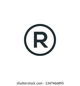 trademark icon vector
