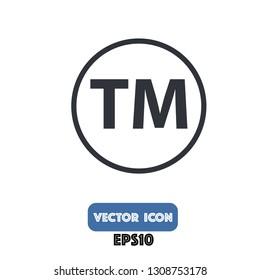 trademark icon, trademark vector eps10